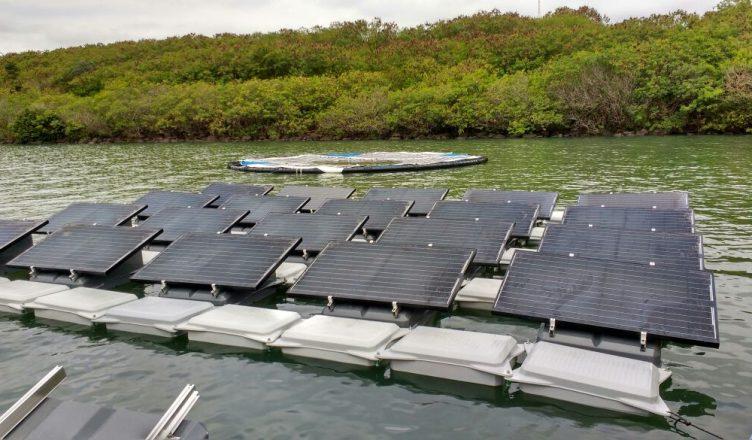 Usina Solar Flutuante Instalada em Rosana