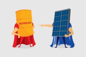 Energias Renováveis: Solar x Petróleo