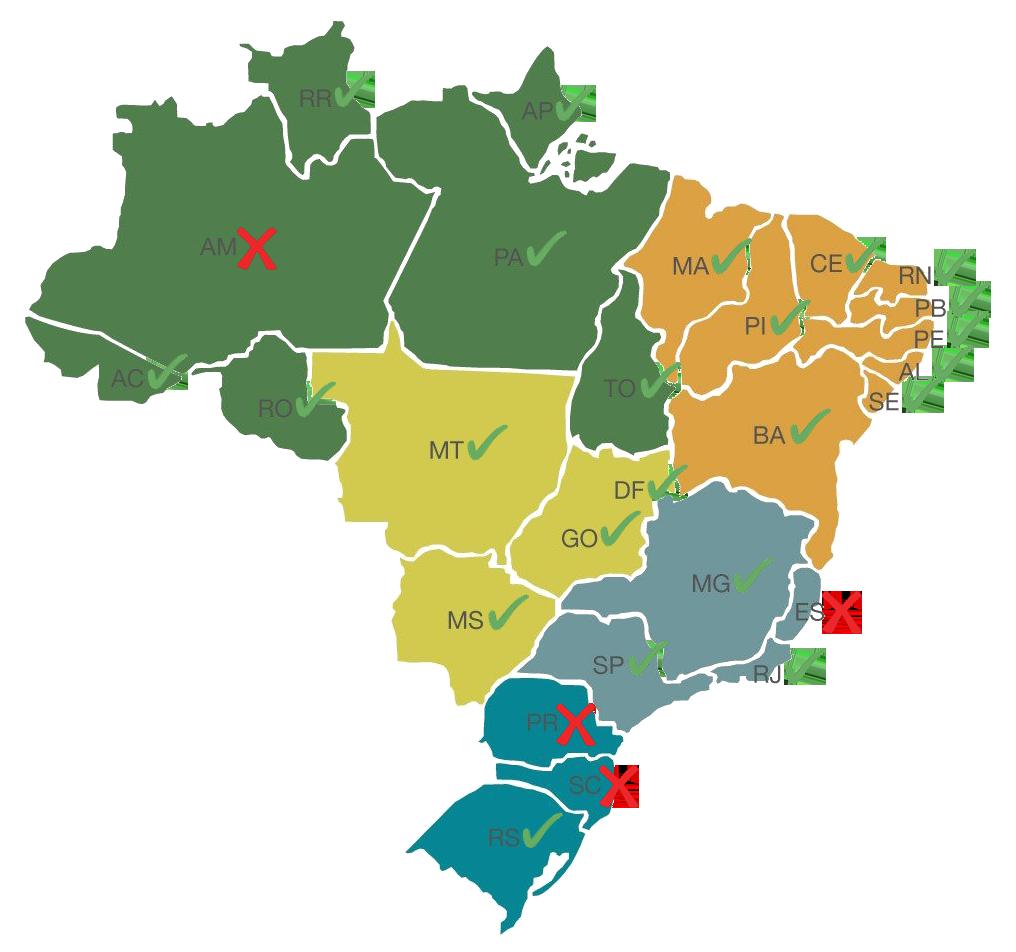 Energia Solar no Brasil: Mapa dos Estado com isenção de ICMS sobre energia gerada