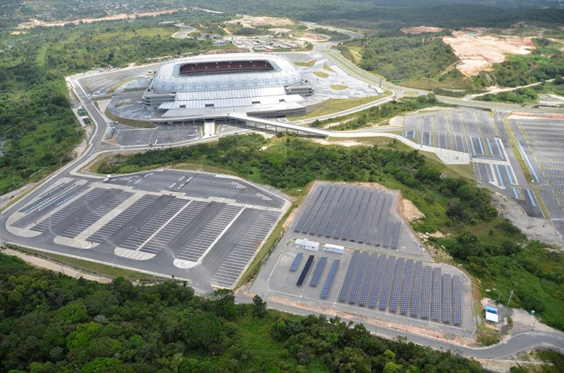 Energia Solar no Brasil: Usina Solar do estádio Arena Recife