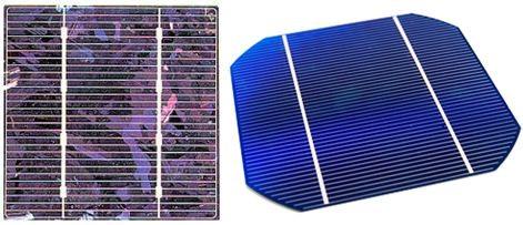 célula solar _ célula de Silício Cristalizado