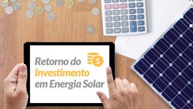 Retorno do Investimento em energia solar