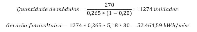 Energia Solar industrial cálculo 22