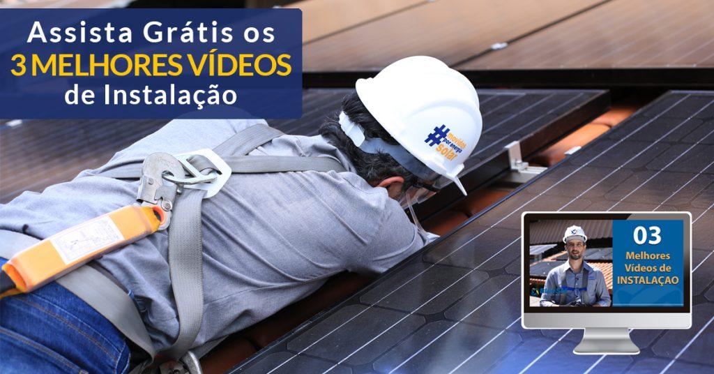 mini curso instalação de painéis solares