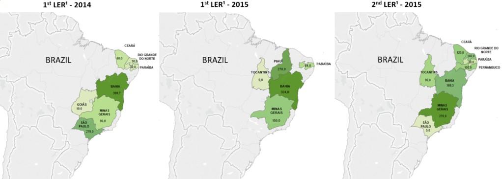 Índices de radiação solar no brasil