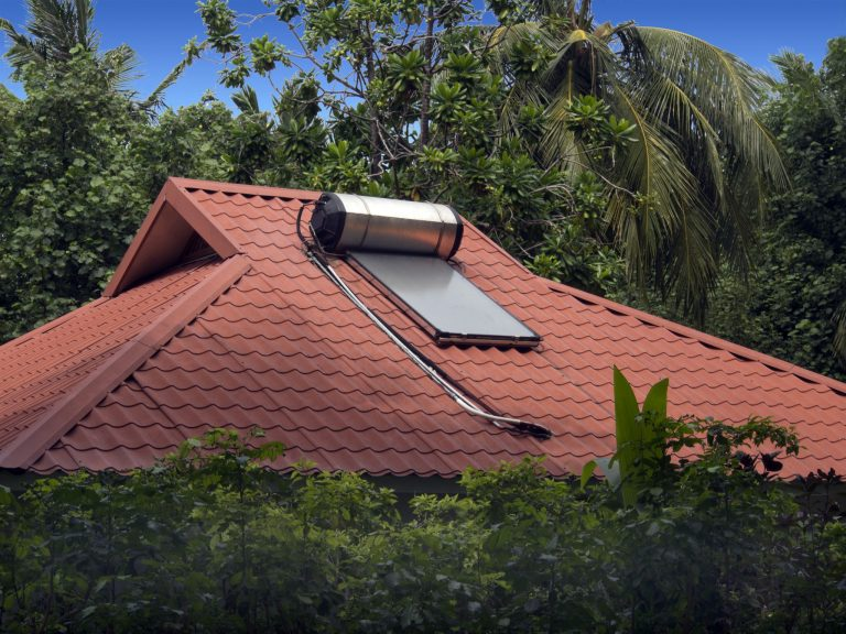 casa sustentável _ sistema de aquecimento solar