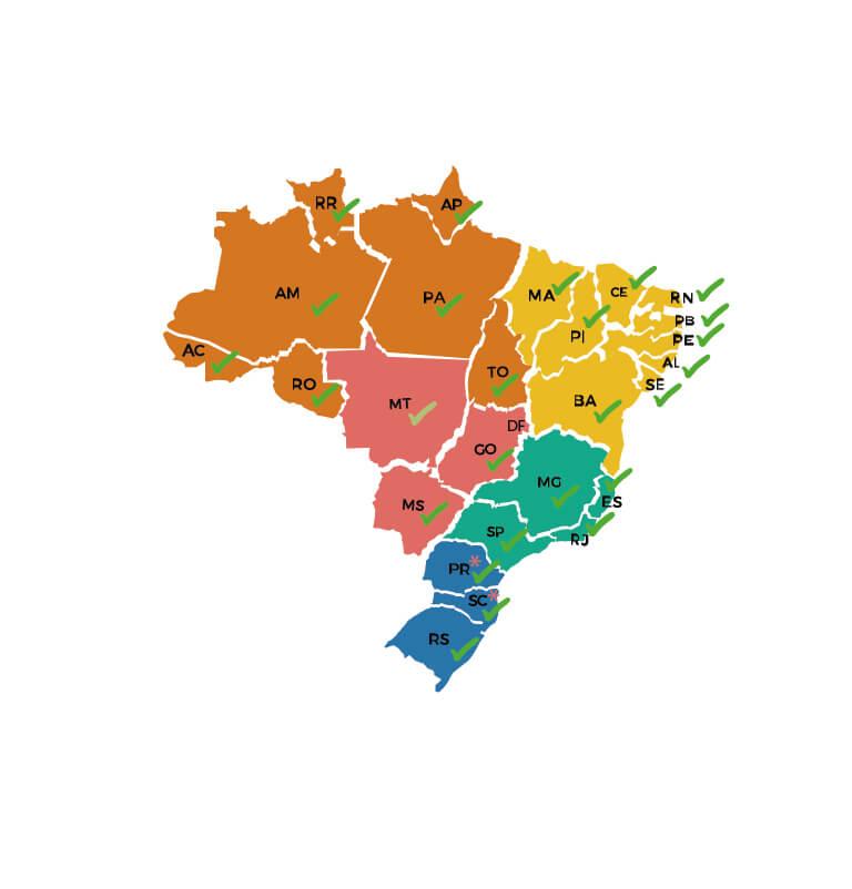 energia solar no Brasil _ mapa dos estados com isenção de ICMS para energia solar
