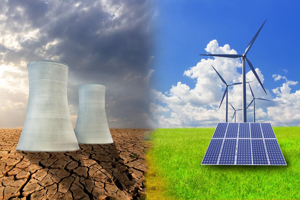 fontes alternativas de energia _ fontes poluentes x fontes limpas