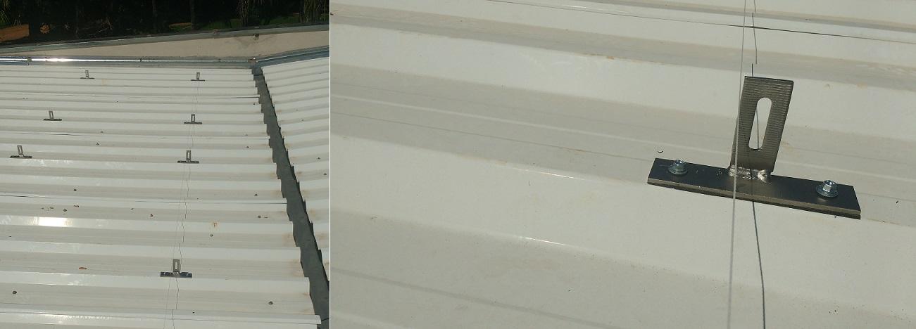 suporte para placa solar _ gancho em formato T sobre telha metálica