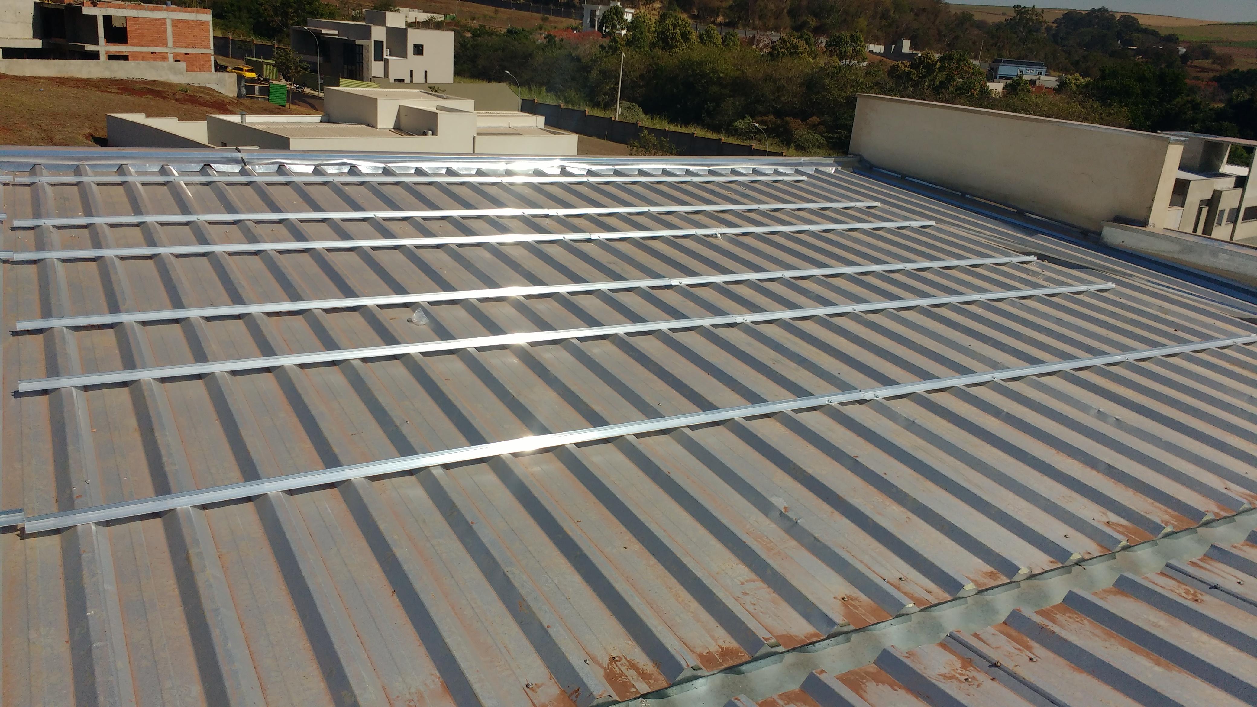 suporte para placa solar _ estrutura com fixação direta