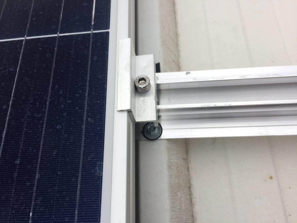 suporte para placa solar - presilha rosqueada