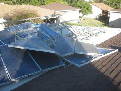 suporte para placa solar _ ação do vento sobre painel solar