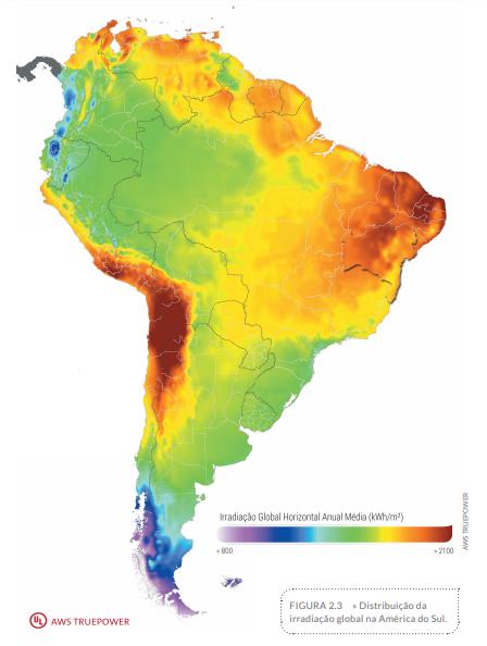 energia solar na Bahia _ mapa solar América Latina