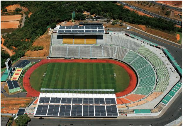 energia solar na Bahia _ usina solar no estádio Pituaçu