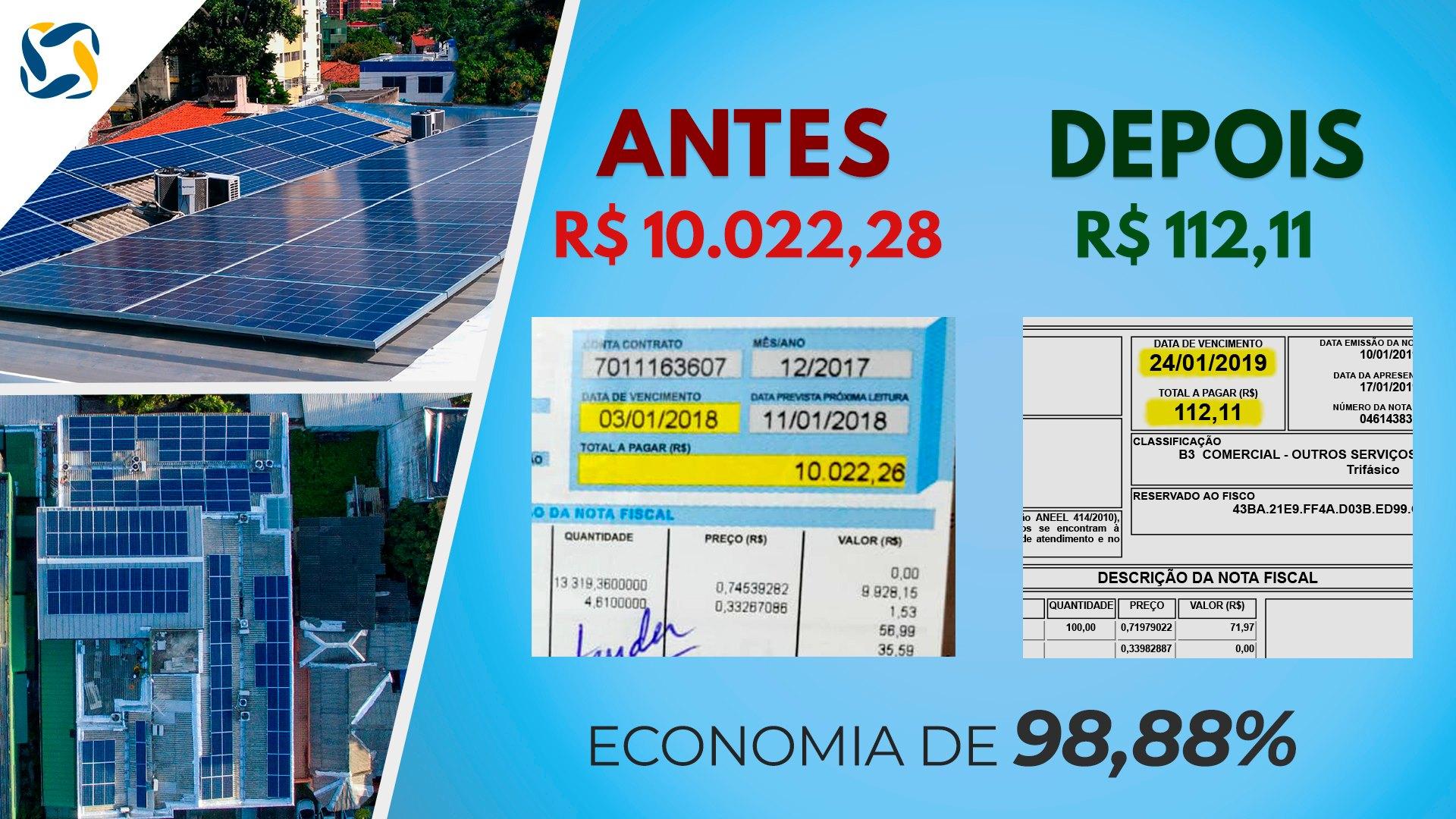 como economizar energia elétrica _ economia com energia solar em empresa