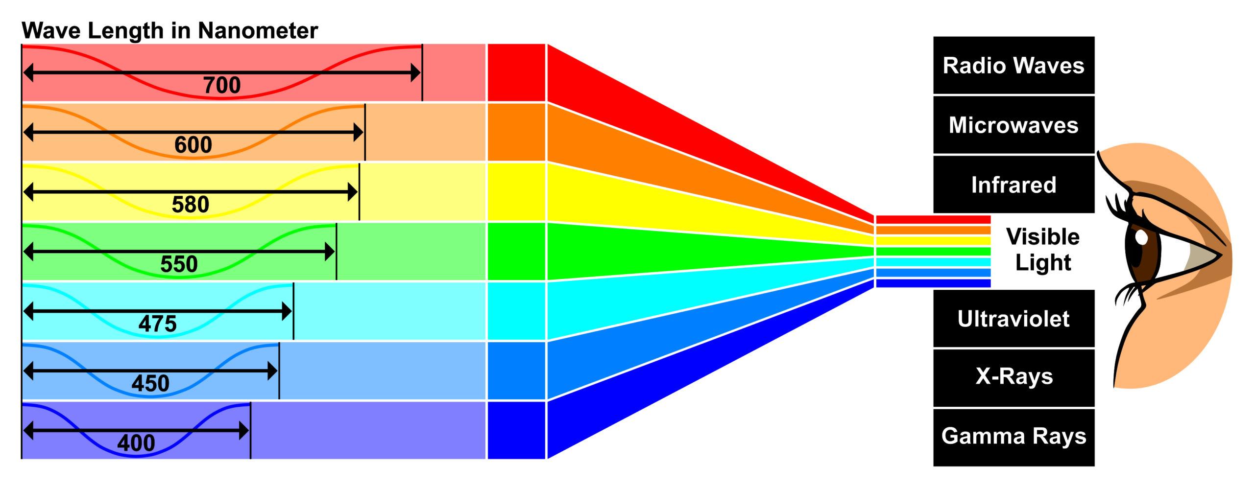 energia luminosa _ espectro eletromagnético de luz visível
