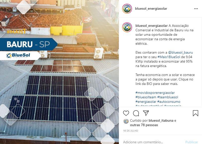 energia solar Bauru _ sistema comercial