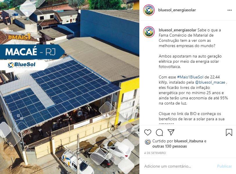 energia solar Macaé _ projeto em empresa
