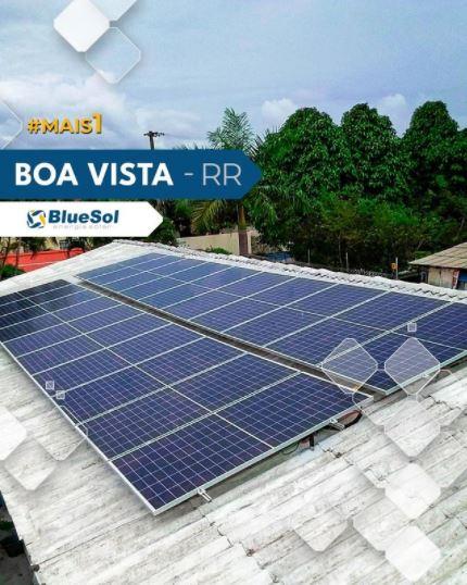 energia solar Boa Vista _ telhado com painel solar